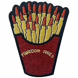 ZEGIN Aufnäher, Bestickt, Design: Freiheit Fries mit Kugel, zum Aufbügeln oder Aufnähen