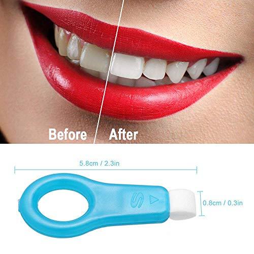 Nano Teeth Whitening Kit Tools Zahnreinigung Aufheller für Brown Tooth Stains Smoke (2 Reinigungsstäbchen und 10 Baumwollstreifen) - Aufheller-kit