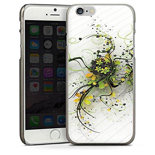 Apple iPhone 5s Housse étui coque protection Fleurs Fleurs Vrilles CasDur anthracite clair