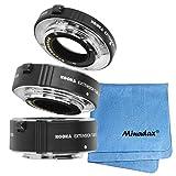 Minadax® Hochwertiges Makro Adapter Tubus Set aus Metall für beeindruckende Makro-Aufnahmen - kompatibel zu Micro Four Thirds 4/3 inkl. Minadax® Reinigungstuch