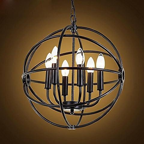BJVB Araña de jaula redonda lámpara de jaula de pájaro . 42cm