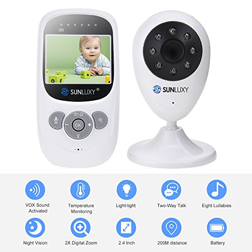 sunluxy-24-inch-color-lcd-wireless-digital-audio-video-baby-monitor-security-camera-2-way-talk-night
