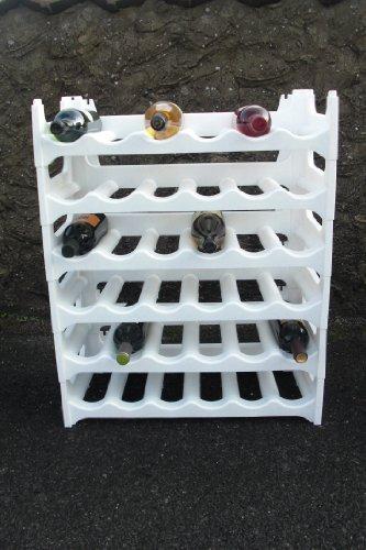 Pure Home & Garden Weinregal für 36 Flaschen weiß / Qualität Made in Germany