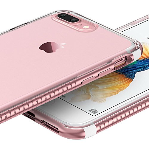 iPhone 7 Plus Hülle (5,5 Zoll), ESR® ESR® Hybrid Schutzhülle, Metallrahmen + Weiche Silikon Bumper Case Hülle für iPhone 7 Plus (Roségold) Roségold