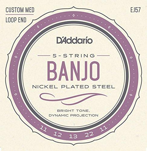 D'Addario EJ57 Set per Banjo a 5 Corde, Nickel, Tensione Media, 11-22