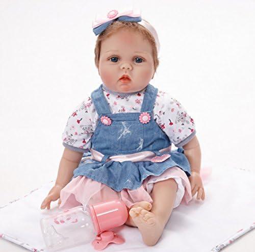Nurturing Dolls Reborn Bébé Poupée Silicone avec des VêteHommes VêteHommes VêteHommes ts Cheveux 55cm Réaliste Mignon Cadeaux Jouet Fille B07HSLGK37 3155e0
