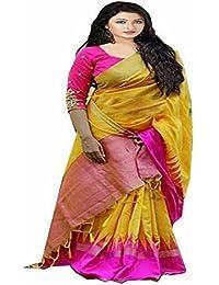 Rani pink Printed bhagalpuri silk designer saree