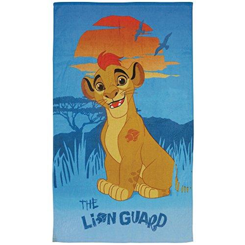 CTI - Disney - Drap de Plage Kion La Garde du Roi Lion 100% Coton, Bleu, 120x70 cm