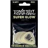 Ernie Ball Medium Super Glow Guitar Picks, Bag of 12