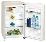Retro Kühl- Gefrier Kombination Wohnraum Standgerät weiss Exquisit RKS130-11A++