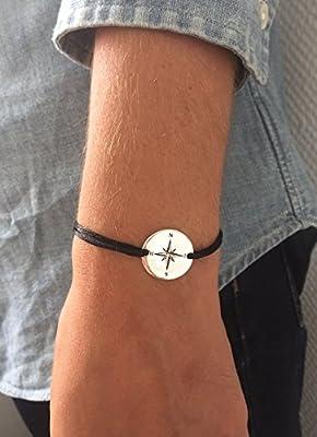 Bracelet Point cardinaux - Rose des vents en Argent 925 ou Plaqué Or