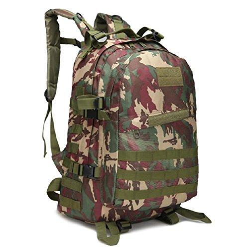 ZC&J Outdoors 36-55L Capacity Camouflage Männer Schulter Rucksack, Tactical Sport Trekking Bergsteigen Rucksack, wasserdicht Oxford Tuch verstellbare Bergsteigen Tasche B9