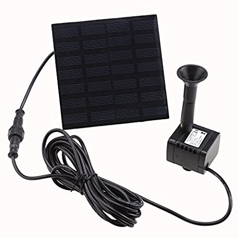 Square 1.2W Solar Water Pump Kits Fountain Submersible Pump for Pool Garden Pond[UK Stock]