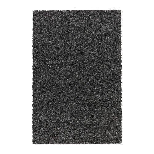 IKEA-ALHEDE-Alfombra-pelo-largo-negro-160x240-cm