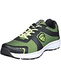 Duke Mens Black/P.Green Sports Shoes - B078KFTWDN