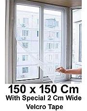 Shahji Creation Window Mosquito / Fly Net Mesh Screen -150X150 cm (Multicolor)