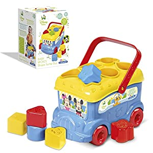 Clementoni Mickey and Friends Shape Sorter Bus (Blue)