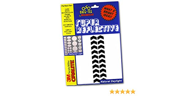 1 INCH CHEVRON Stickers Reflects as white Safe-Tee Reflective BLACK