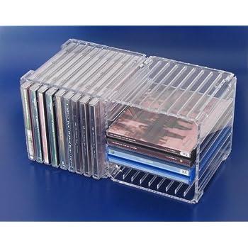 CD-Acryl-Box 18 für 18 Einzel-CDs oder 8 Doppel-CD: Amazon