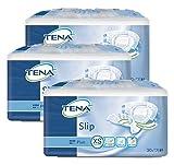 TENA Slip Plus Extra-Small (XS) - saugstarke Schutzunterwäsche - bei mittlerer Inkontinenz und Doppelinkontinenz - Einweghose 3 x 30 = 90 Stück