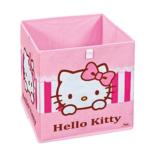 Interlink 99200450 Hello Kitty Sweat Banc de Rangement Plastique Rose/Blanc 32 x 32 x 32 cm