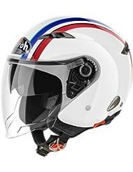 Airoh City One Style - Casco para moto, color blanco brillante Small Bianco