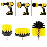 Leoie Tile Grout Power Scrubber Cleaning Brushes Cleaner Set for Electric Drills 3Pcs/Set red