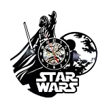 Handmade Star Wars Darth Vader Vinyl Record Clock