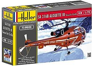Heller 80289  - Aerospatiale Alouette III Sécurité Civile importado de Alemania