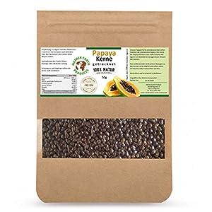 Papaya-Kerne– Natürlich Schonend getrocknet | Papaya-Pfeffer ohne Zusatzstoffe|Gluten- und Laktosefreie Papaya-Samen|Papain |Milde Schärfe im Geschmack – 50g