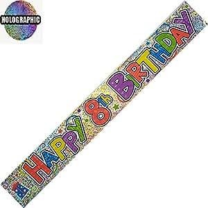 HAPPY 8TH BIRTHDAY BANNER 9FT LONG