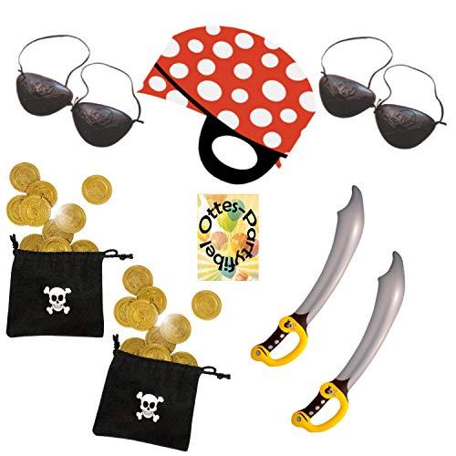 HHO Pirate's Trip Piratenausflug Partyset 26tlg. für 8 Piraten Piratenmasken Augenklappen Schwert Münzbeutel (Piraten-münzbeutel)