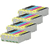 4 Set Compatible de 5 cartouches d'encre pour remplacer T2636 / 26XL (20 encres) pour une utilisation dans Epson Expression Premium XP-510, XP-600, XP-605, XP-610, XP-615, XP-700, XP-710, XP-800, XP-810