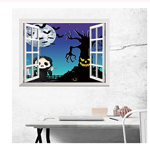 chte Fenster Wandaufkleber Vivid Horror Ghost Wandtattoo Decor Abnehmbare Scary Ghost Poster ()