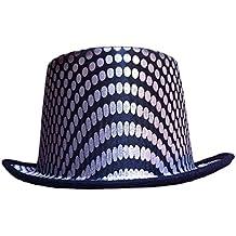 d9fbd3f3aa3b1 Dress Up America Sombrero de Copa Cuadrado Plateado para Adulto