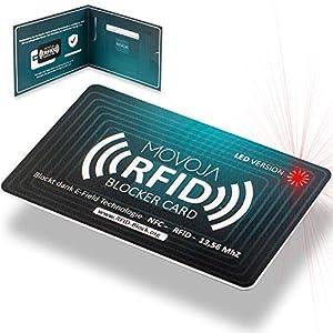 RFID Blocker Karte mit LED Indikator Technologie   Neuster Störsender   Deutsche Marke   Keine Reststrahlung   100…