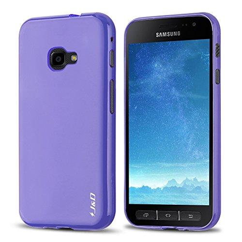 J&D Kompatibel für Galaxy Xcover 4 Hülle, [Leichtgewichtig] [Fallschutz] Stoßfest TPU Slim Hülle für Samsung Galaxy Xcover 4 - Violett