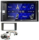 JVC KW-V250BT 2DIN CD DVD USB Bluetooth MP3 Autoradio für Audi A6 01-05 C5 Bose Aktivsystem Mini-ISO
