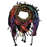 Superfreak Palituch - Sterne Tie dye Batik bunt - schwarz 01-100x100 cm - Pali Palästinenser Arafat Tuch - 100% Baumwolle