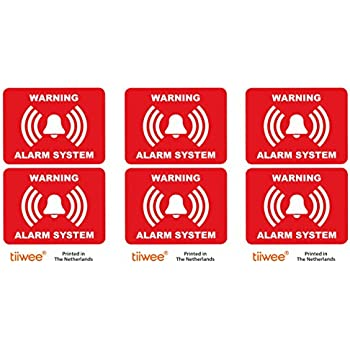 8 X Intruder Alarm Warning Security Stickers Signs For