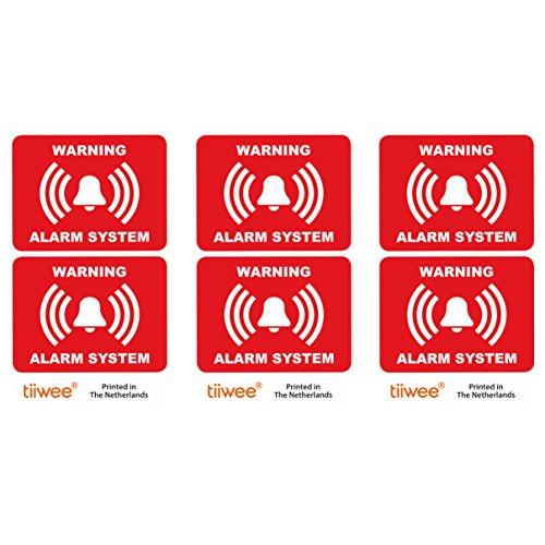 Tiiwee Etiquetas Alarma Seguridad Hogar   Rojo   Doble