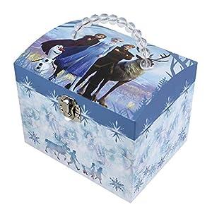 Trousselier – DISNEY – Die Eiskönigin 2 – Frozen 2 – Musikschmuckdose – in Form eines Kosmetikkoffers – Ideales Geschenk für junge Mädchen – Musik aus dem Film Lass jetzt los – Farbe blau