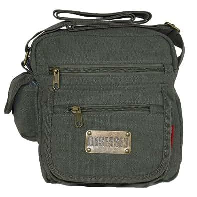 COLONEL SMALL CANVAS MESSENGER SHOULDER BAG