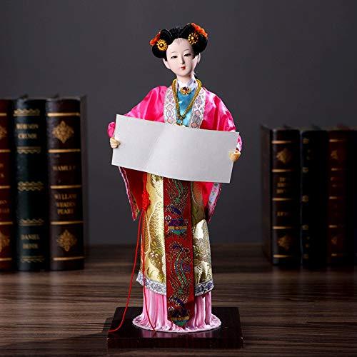 Kostüm Kunst Und Handwerk - DDCYY Puppen Statue/Skulptur, Peking-Opernmaskenstatue, Antike Schriftzeichen, Geschenke Im Chinesischen Stil, Kunsthandwerk, Inneneinrichtung, Wohnzimmer, Schlafzimmer,E