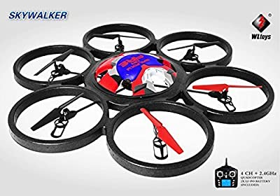 S Idea 01183 Hexa Quadcopter V323 with Camera 4.5 Channel 2,4 GHz Quadrocopter LCD Display WL RC Remote Controlled Helicopter/Helicopter/Heli Gyroscope + 2.4 Technology for Indoor and Outdoor Brand