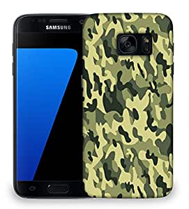 Snoogg Camo Green military 2764 Designer Protective Back Case Cover For Samsung Galaxy S7