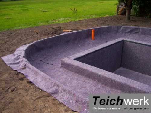 20 qm Teichvlies 300 g/qm | Premium Schutzvlies - 2 m breit x 10 m lang