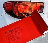 1A Style Sticker Auto Folie Rot Rückleuchten Folierung, 200cm, Rote Rückscheinwerfer, Tuningfolie Rot Tönung passend für alle Automarken