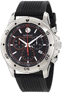 MOVADO SERIES 800 2600100 GENTS CASE CHRONOGRAPH DATE WATCH