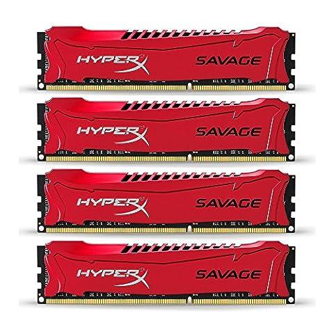 HyperX Savage HX316C9SRK4/32 Arbeitsspeicher 32GB (1600MHz, CL9) DDR3-RAM Kit (4x8GB)